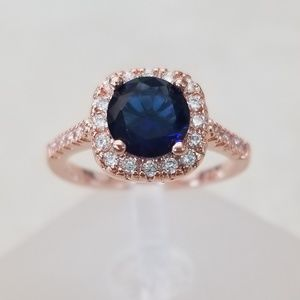 Jewelry - 18k Over Sterling Sapphire Ring